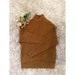 LOFT Ribbed Dolman Sleeve Turtleneck Sweater